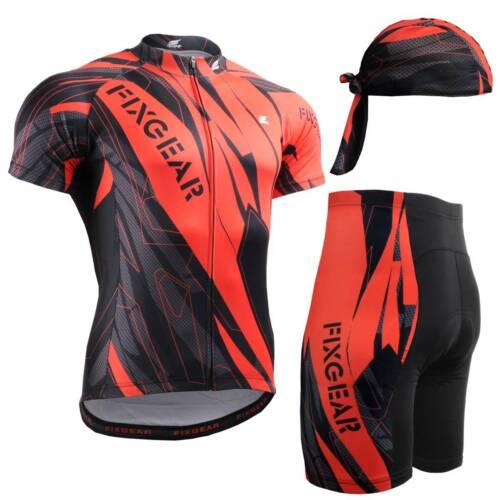 FIXGEAR CS-6802-SET Cycling Jersey /& Padded Shorts MTB Bike BMX Bicycle Wear