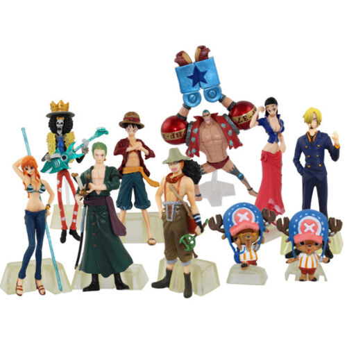 10x One Piece The New World Luffy Zero Brook 3cm12cm PVC Figure Set NIB