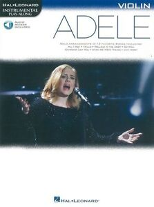 Details about PlayAlong ADELE Play POP Chart Hits Skyfall VIOLIN MUSIC BOOK  & Online Audio