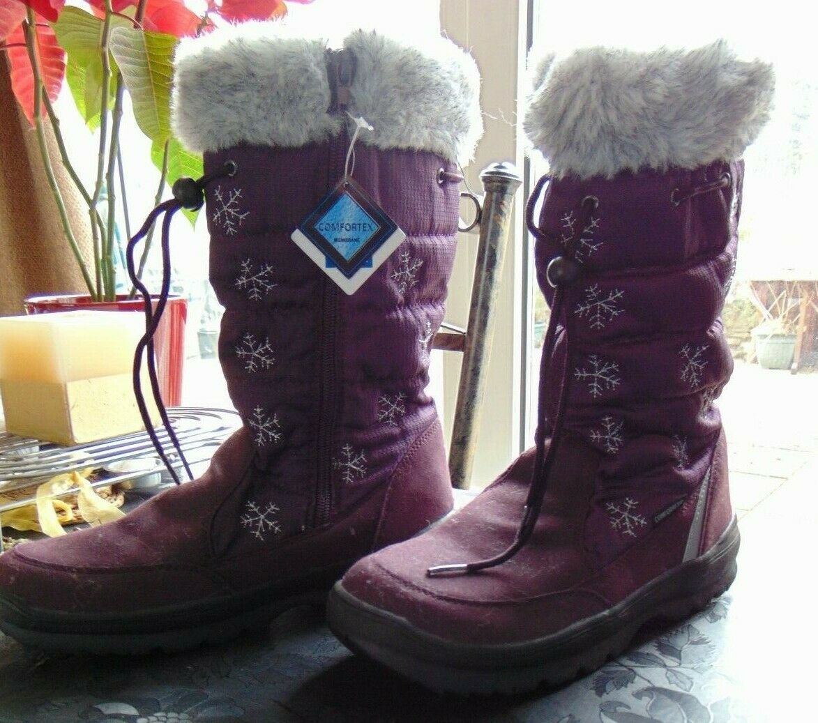 Lico womans boots size 38 burgundy brand new