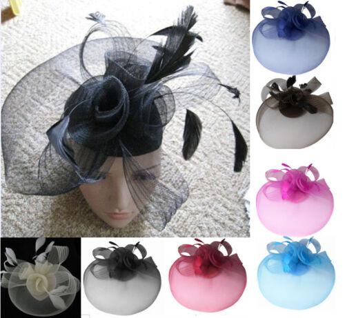 Hochzeit Pferderennen Party Kopfschmuck Schleier Net Hut mit Kegel und Federn