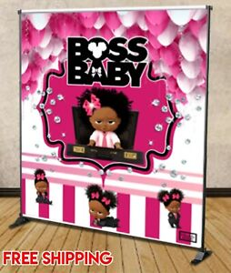Details About Boss Baby Backdrop Girls Birthday Party Background Decoration Custom 5 8 X 6 8