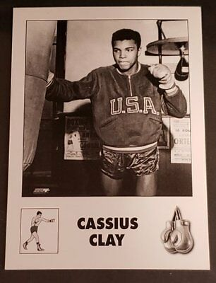Age 12 Boxing Muhammad Ali Cassius Clay METAL trading card