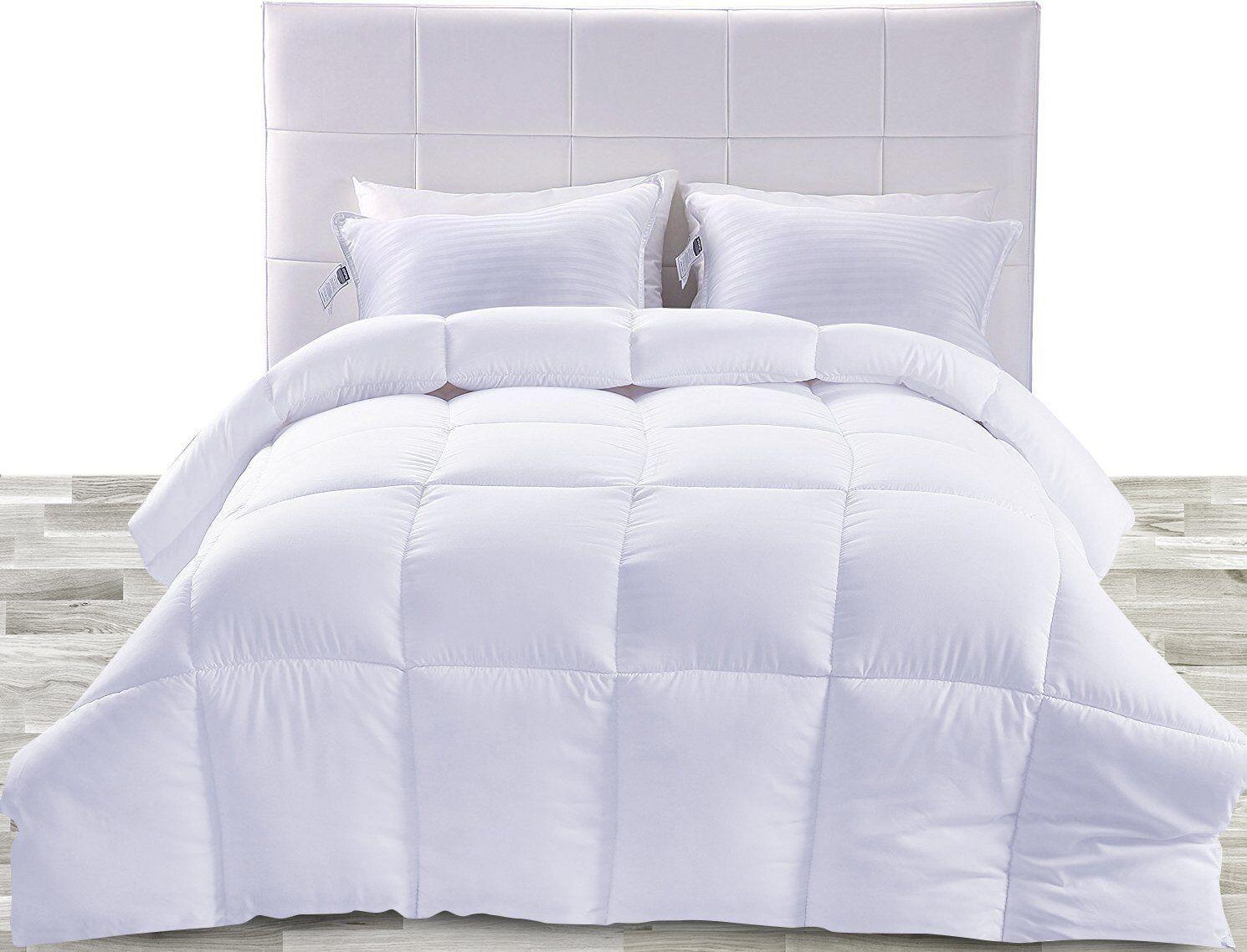 Utopia Bedding Down Alternative Comforter (White, Queen) - All Season Comforter