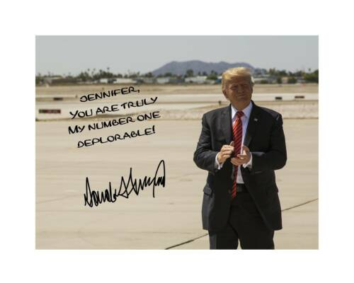 Donald Trump 11x14 Signed Photo Print YOUR NAME President Personalized MAGA