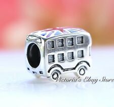 Authentic Pandora Sterling Silver Enamel London Bus Charm 791049ER