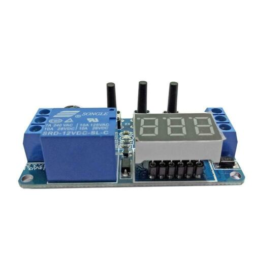 DC 12V LED Digital Time Delay Relay Module Programmable Cycle Relay Switch SL#