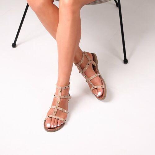 Billie Nude Studded Gladiator Sandal With Embellished Sole