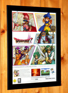 Dragon-Quest-VII-7-Rare-Small-Poster-Old-Ad-Page-Framed-NDS-Square-Enix