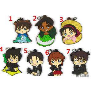 Anime Detective Conan acrylic Keychain Key Ring Race straps Cosplay