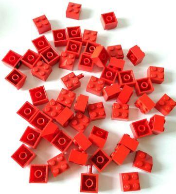Apprensivo Lego 50x Brick 2x2 Rosso Misti Lotto Set Kg Mattoncini Sped Gratis Su + Acquisti