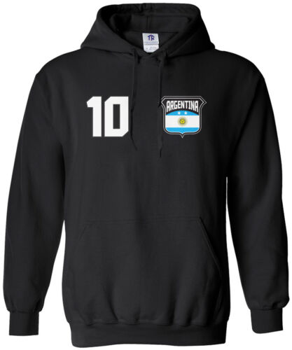 Threadrock Women/'s Team Argentina Soccer Hoodie Sweatshirt football