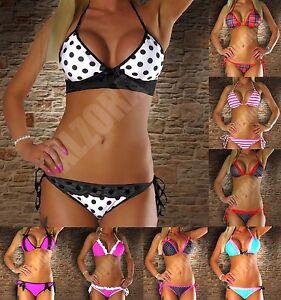 RIESEN AUSWAHL Sexy Damen Bikini Neckholder 60 MODELLE Set Top Push Up XS S M L
