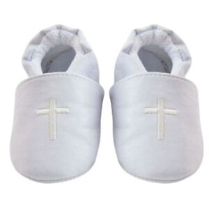 Baby-Boy-Girl-Cross-Baptism-Christening-Shoes-Church-Soft-Sole-Leather-Shoes-NEW