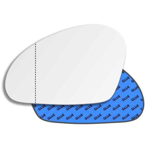 SEAT ALTEA 2004-2015 Gauche Passager Côté Large Angle Miroir en verre 129LAS