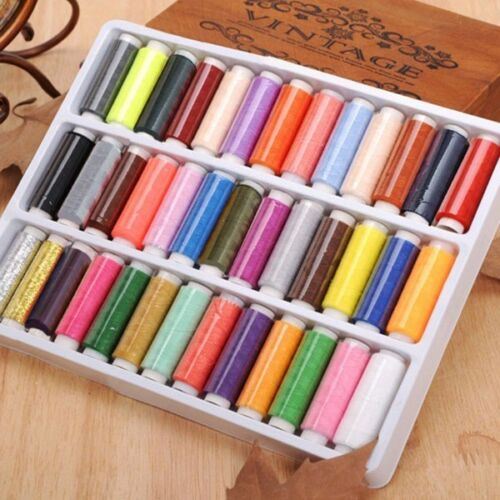 New 39PCS/Set Assorted Colorful Polyester Sewing Thread Spoo