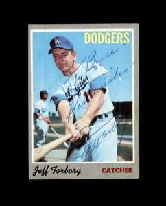 Jeff Torborg Hand Signed 1970 Topps Los Angeles Dodgers Autograph