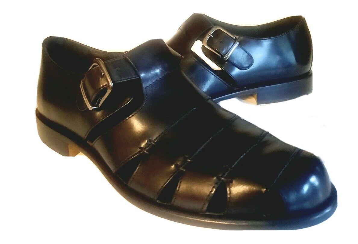 G.H. Bass & Co. {G.H. Bass & Co.} Black Leather Fisherman Sandals 8 Smoo Muzi