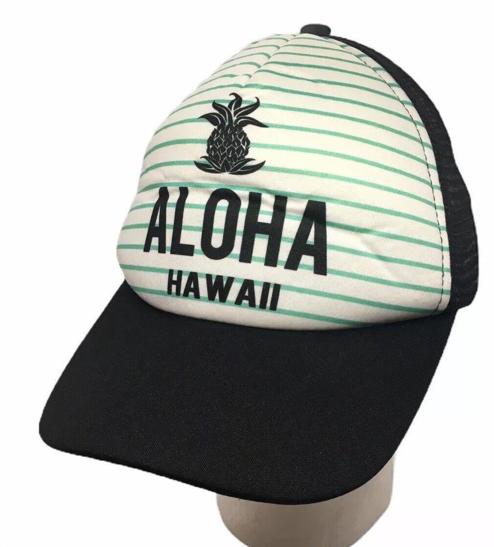 Aloha Hawaii Netz Trucker Mütze Kappe Snapback Schwarz Weiß Grün Ananas Surfware