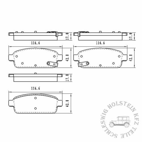 BB.8200 Bremsbelagsatz Brake pads Hinterachse für Chevrolet Opel