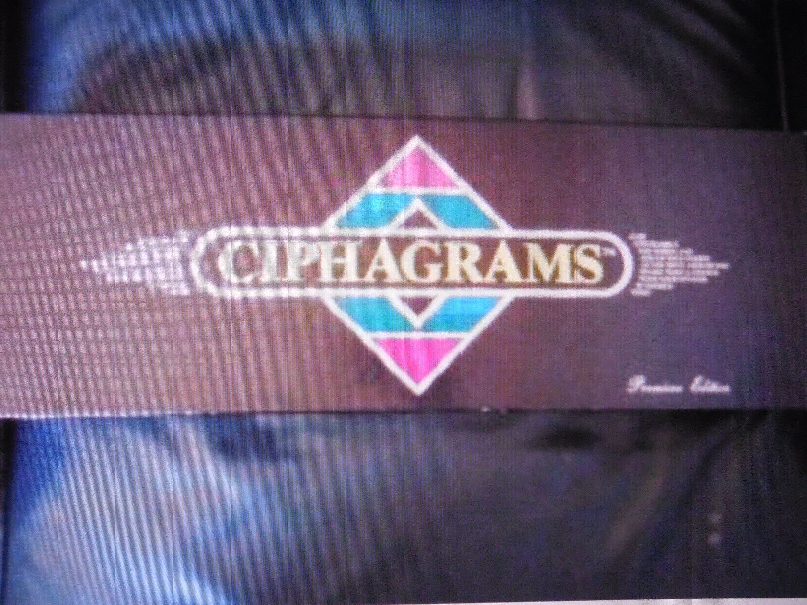 CIPHAGRAMS BOARD GAME BOARDGAME ANAGRAMS UNSCRAMBLE JUMBLE - WORDS RARE Vintage