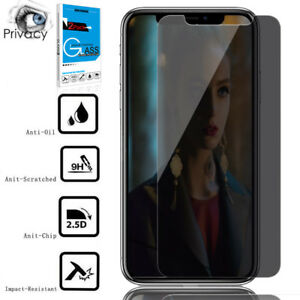timeless design 4a0e7 b258f Details about For iPhone XS Max/XR/XS Privacy Anti-Spy Tempered Glass  Screen Protector CA ILO