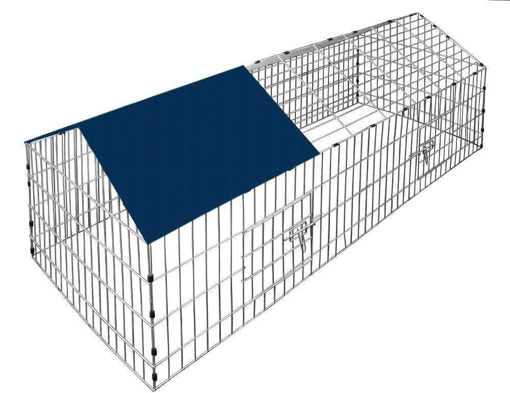 Recinto Conigli Gabbia Grande per Cani Cuccioli Roditori Animali Petigi 180x75cm