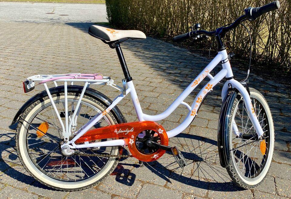 """Hvid pigecykel 20"""" / 3 gear - Starlight"""