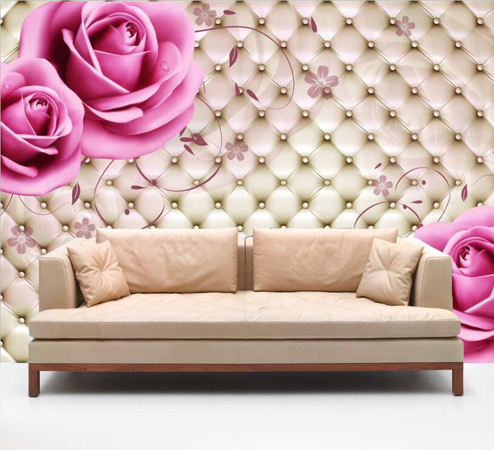 3D Flowers And Leder 1819 Paper Wall Print Wall Decal Wall Deco Indoor Murals