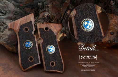 Beretta 92FS 96 98  M9 Walnut Grip KSD Handgun Grips STARS logo