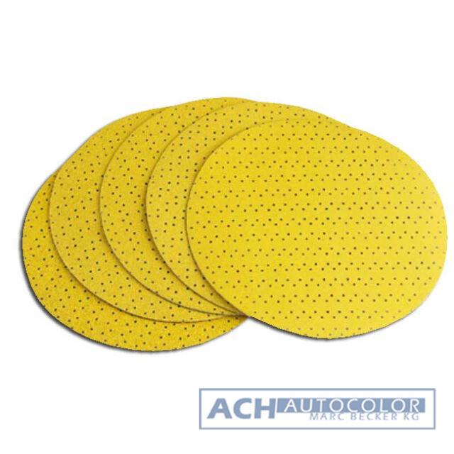 5X k 60 Papel de Lija Original Flex Todos los Jirafas Velcro P60 Amarillo