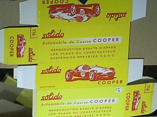 REPLIQUE  BOITE AUTO DE COURSE COOPER SOLIDO 1961