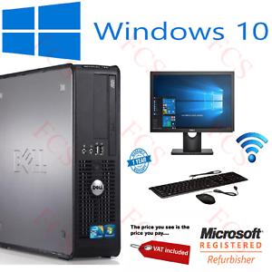 DELL-HP-DUAL-CORE-PC-SFF-Desktop-Computer-Bundle-Windows-10-4GB-250GB