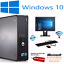 DELL-HP-DUAL-CORE-PC-SFF-Desktop-Computer-Bundle-Windows-10-4GB-250GB miniatura 1