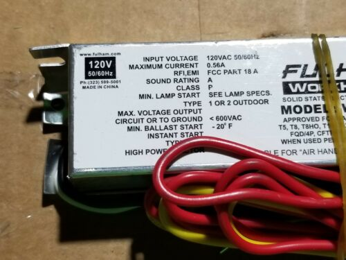 Lot 2 Fulham WH3-120-L Workhorse Small Form-Factor Versatile Electronic Ballast