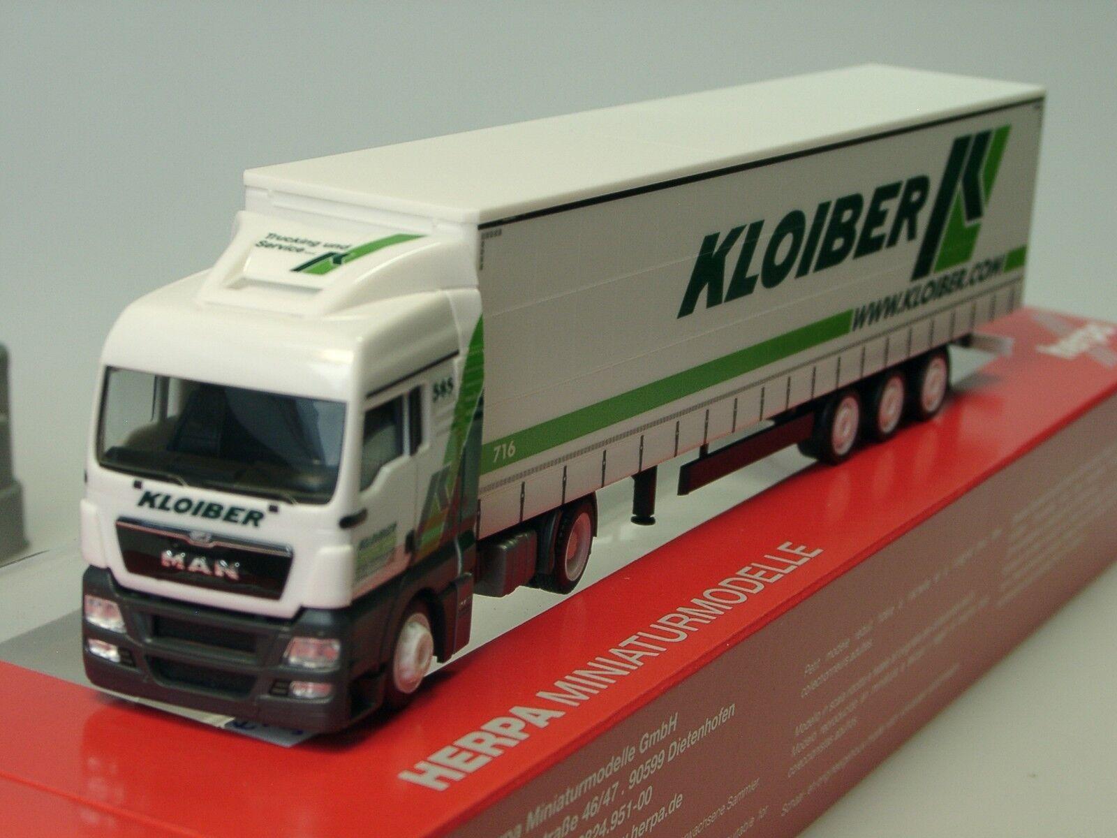 Herpa MAN TGX XLX KLOIBER Lowliner Sz - 305013 - 1 87  | Verrückter Preis