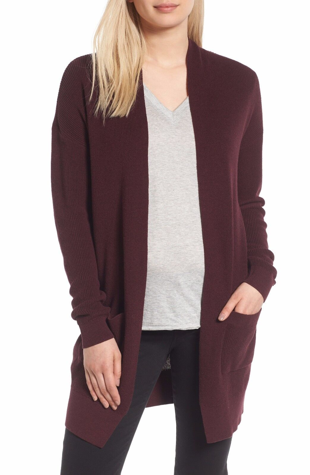 NEW Nordstrom Collection Cashmere Open Front Cardigan- S  S806