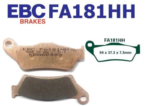 EBC Bremsbeläge Bremsklötze FA181HH HINTEN KTM 950 Adventure//S 04-06