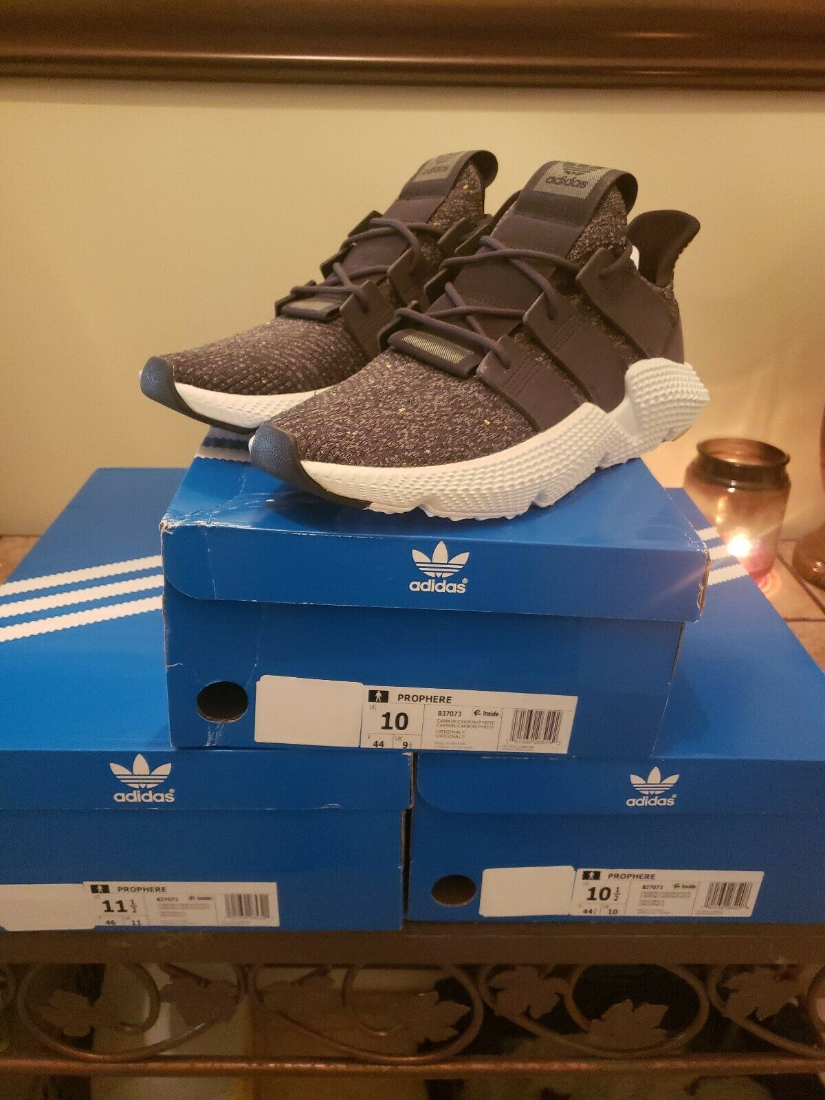 Adidas Originals Prophere Men's Size 10. Grey Sneakers shoes B37073. New in box.
