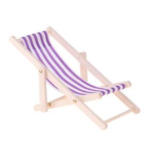 Sedie A Sdraio In Miniatura.Sedia A Sdraio In Legno A Righe 1 12 Mobili Miniatura Casa Delle