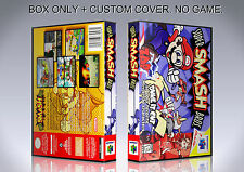 SUPER SMASH BROS. ENGLISH. Box/Case. Nintendo 64. BOX + COVER. (NO GAME).