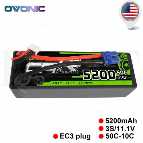 OVONIC 5200mAh 3S 11.1V 50C Lipo Battery Pack EC3 for RC Car Buggy Heli Quad