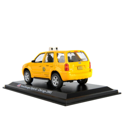 1//43 Ford Escape Hybrid 2005 Taxi Vehicles Toy Diecast Yellow Collect Car Model
