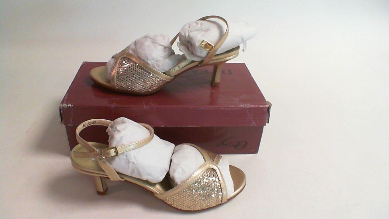 New Dyeables Wedding Shoe - Champagne Glitter - Dre - US 10 B UK 8 #13R493
