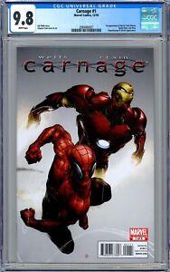 CGC 9.8 Carnage #1 (2010, Marvel) 1st App. of Doctor Tanis Nieves. Clayton Crain