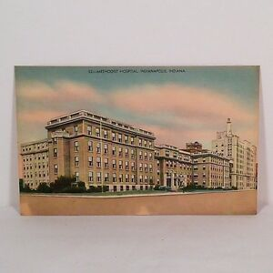 Details about Vintage Methodist Hospital in Indianapolis, IN Post Card Buy  It Now!