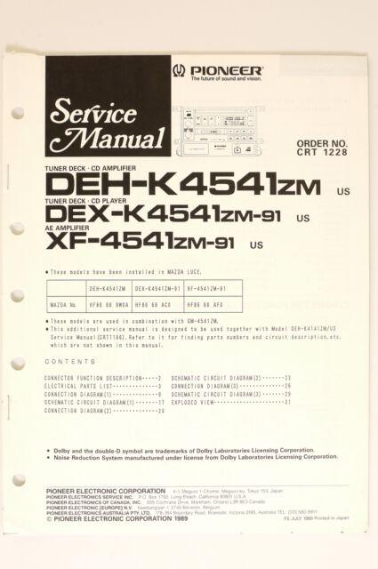 Pioneer Deh Zm Original Service