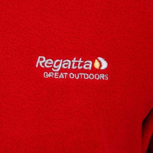 Red REGATTA Fleece Jacket Mens Jumper Thompson Turtle Neck 2XL 3XL 4XL
