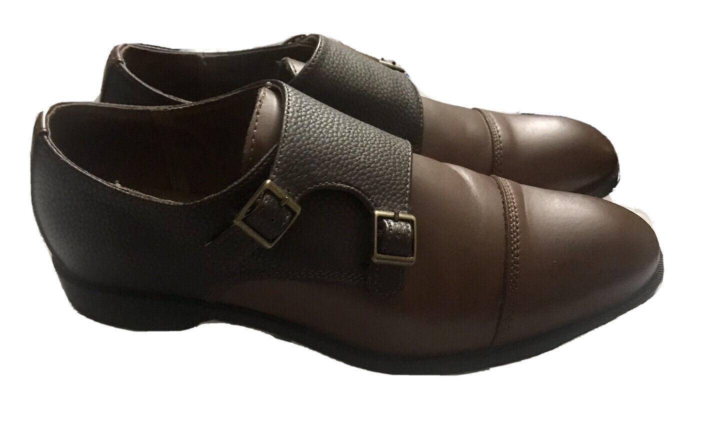 Joseph Abboud 2 Tone Brown Dante Double Monk Strap Men's Sz. 9.5 Leather