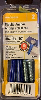 The Hillman Group 5109 Ribbed Plastic Anchors